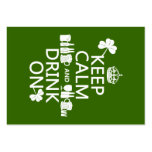 Keep Calm and Drink On (irish st patricks) Large Business Cards (Pack Of 100)