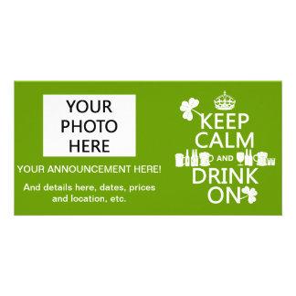 Keep Calm and Drink On (irish st patricks) Card