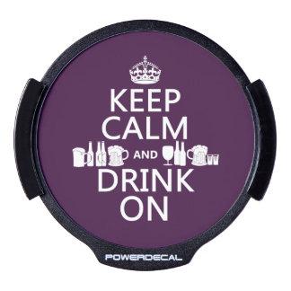 Keep Calm and Drink On irish st patricks LED Car Window Decal