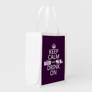 Keep Calm and Drink On (irish st patricks) Grocery Bag