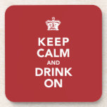 Keep Calm and Drink On Wine Lover Gift Coasters