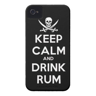Keep calm and Drink Rum alcohol drinking pirate sh iPhone 4 Cover
