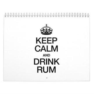 KEEP CALM AND DRINK RUM CALENDAR