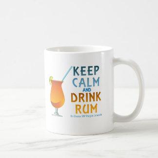 Keep Calm and Drink Rum :: St Croix USVI Coffee Mug