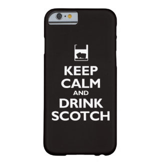 Keep Calm and Drink Scotch (black) Barely There iPhone 6 Case