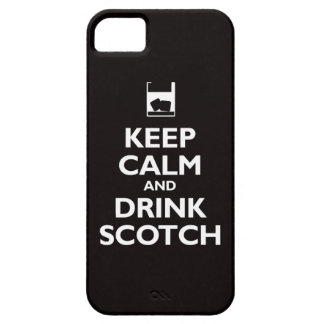 Keep Calm and Drink Scotch (black) iPhone 5 Cases