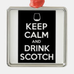 Keep Calm and Drink Scotch Christmas Tree Ornaments