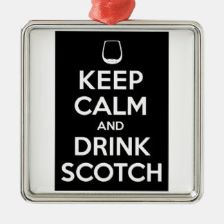 Keep Calm and Drink Scotch Christmas Tree Ornaments
