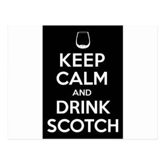 Keep Calm and Drink Scotch Postcard