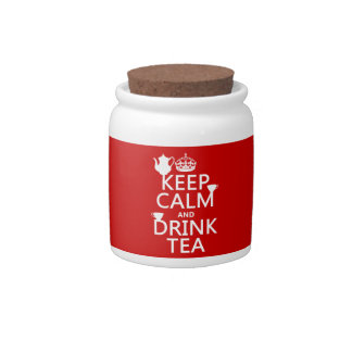 Keep Calm and Drink Tea - All Colors Candy Dish