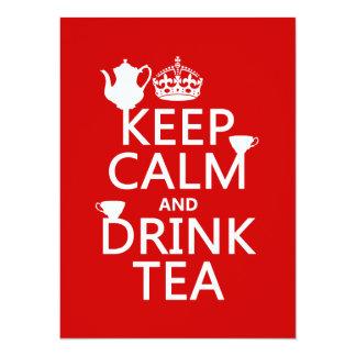 Keep Calm and Drink Tea - All Colors Card