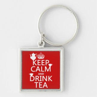 Keep Calm and Drink Tea - All Colors Keychain