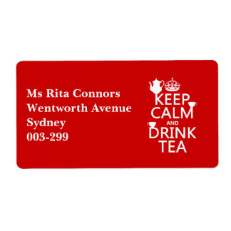 Keep Calm and Drink Tea - All Colors Label
