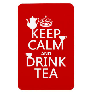 Keep Calm and Drink Tea - All Colors Rectangular Photo Magnet