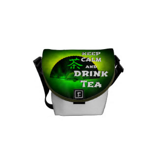 keep calm and drink tea - asia edition - green tea courier bag