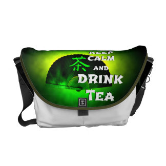 keep calm and drink tea - asia edition - green tea messenger bag