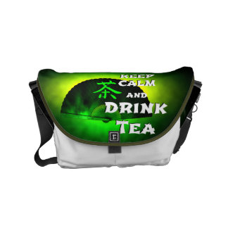 keep calm and drink tea - asia edition - green tea small messenger bag