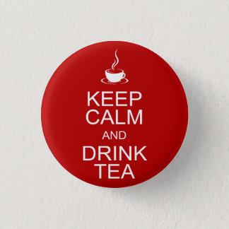 Keep Calm and Drink Tea Button