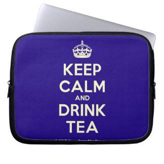 Keep Calm and Drink Tea Computer Sleeves