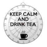 Keep Calm and Drink Tea Dart Board