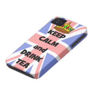 keep calm and drink tea iPhone 4 Case-Mate case