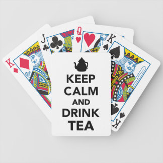 Keep calm and Drink Tea Bicycle Playing Cards