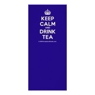 Keep Calm and Drink Tea Rack Card