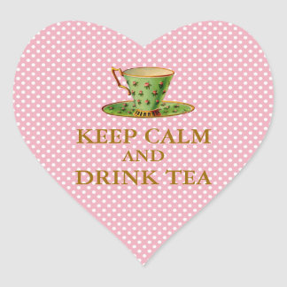 Keep Calm and Drink Tea Stickers