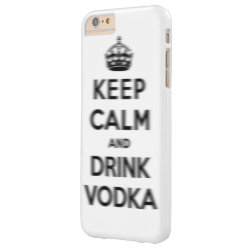 Case-Mate Barely There iPhone 6 Plus Case with Keep Calm and Drink Vodka design