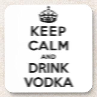 Keep calm and drink vodka beverage coaster