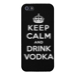 Case Savvy iPhone 5 Matte Finish Case with Keep Calm and Drink Vodka design