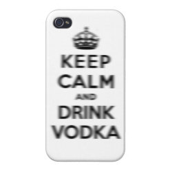 Case Savvy iPhone 4 Matte Finish Case with Keep Calm and Drink Vodka design