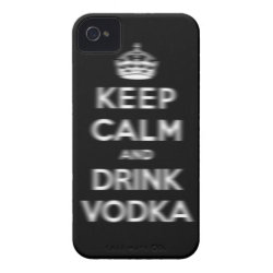 Case-Mate iPhone 4 Barely There Universal Case with Keep Calm and Drink Vodka design