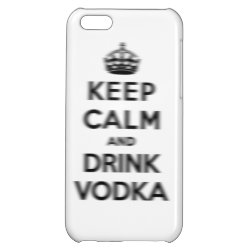 Case Savvy Matte Finish iPhone 5C Case with Keep Calm and Drink Vodka design