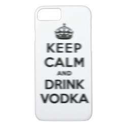 Case-Mate Barely There iPhone 7 Case with Keep Calm and Drink Vodka design
