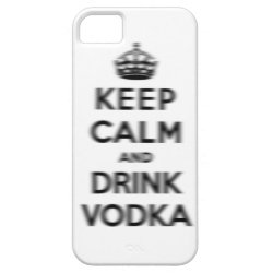 Case-Mate Vibe iPhone 5 Case with Keep Calm and Drink Vodka design