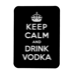 3'x4' Photo Magnet with Keep Calm and Drink Vodka design