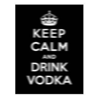 Keep calm and drink vodka post card