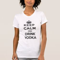 Women's American Apparel Fine Jersey Short Sleeve T-Shirt with Keep Calm and Drink Vodka design