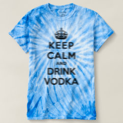 Men's Cyclone Tie-Dye T-Shirt with Keep Calm and Drink Vodka design