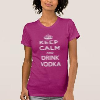 Keep calm and drink vodka tshirts