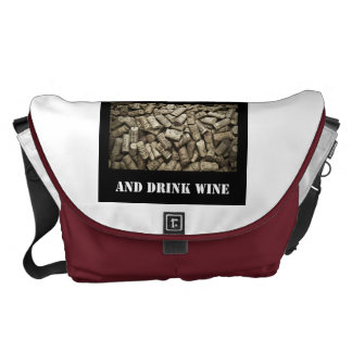 Keep Calm And Drink Wine Courier Bag