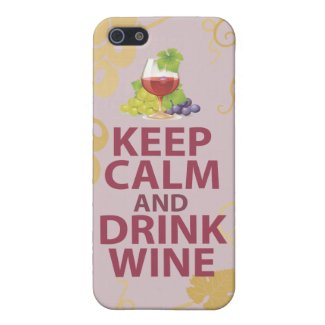 Keep Calm and Drink Wine Case Savvy Matte Finish iPhone 5/5S Case