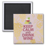 Keep Calm and Drink Wine Gift Unique Art Design Magnets