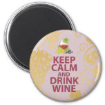 Keep Calm and Drink Wine Gift Unique Art Design Fridge Magnets