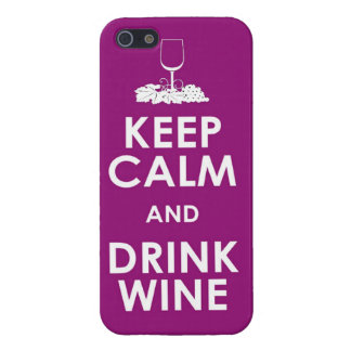 Keep Calm and drink wine grapes alcohol social dri Case For iPhone SE/5/5s