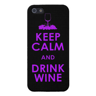 Keep Calm and drink wine grapes alcohol social dri Cover For iPhone SE/5/5s