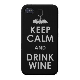 Keep Calm and drink wine grapes alcohol social dri iPhone 4/4S Covers