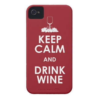 Keep Calm and drink wine grapes alcohol social dri iPhone 4 Case