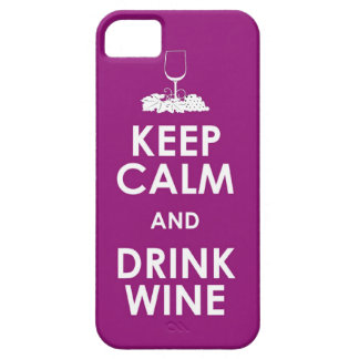 Keep Calm and drink wine grapes alcohol social dri iPhone SE/5/5s Case